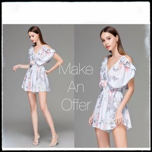 Pants - Very Pretty Off Shoulder Open Back Playsuit